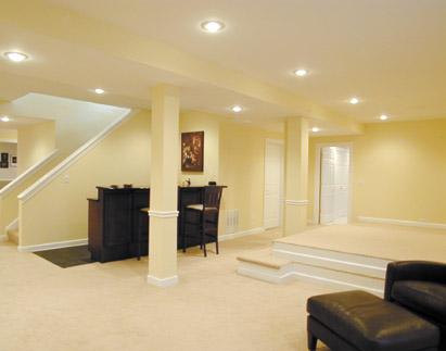 Interior design basement interior design principles for Interior design lighting principles
