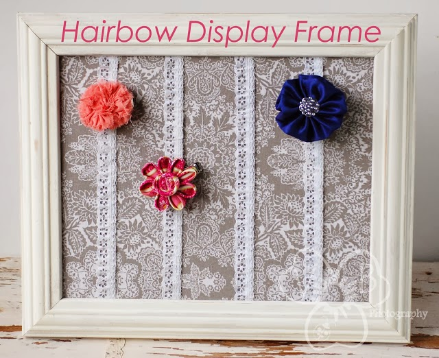 diy hairbow display frame