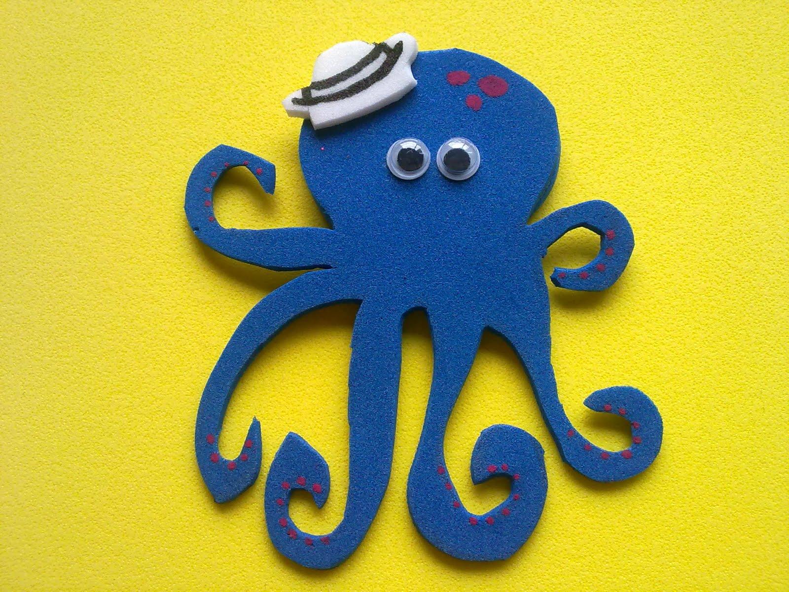 Manualidades Luna Clara: Animales del fondo del mar