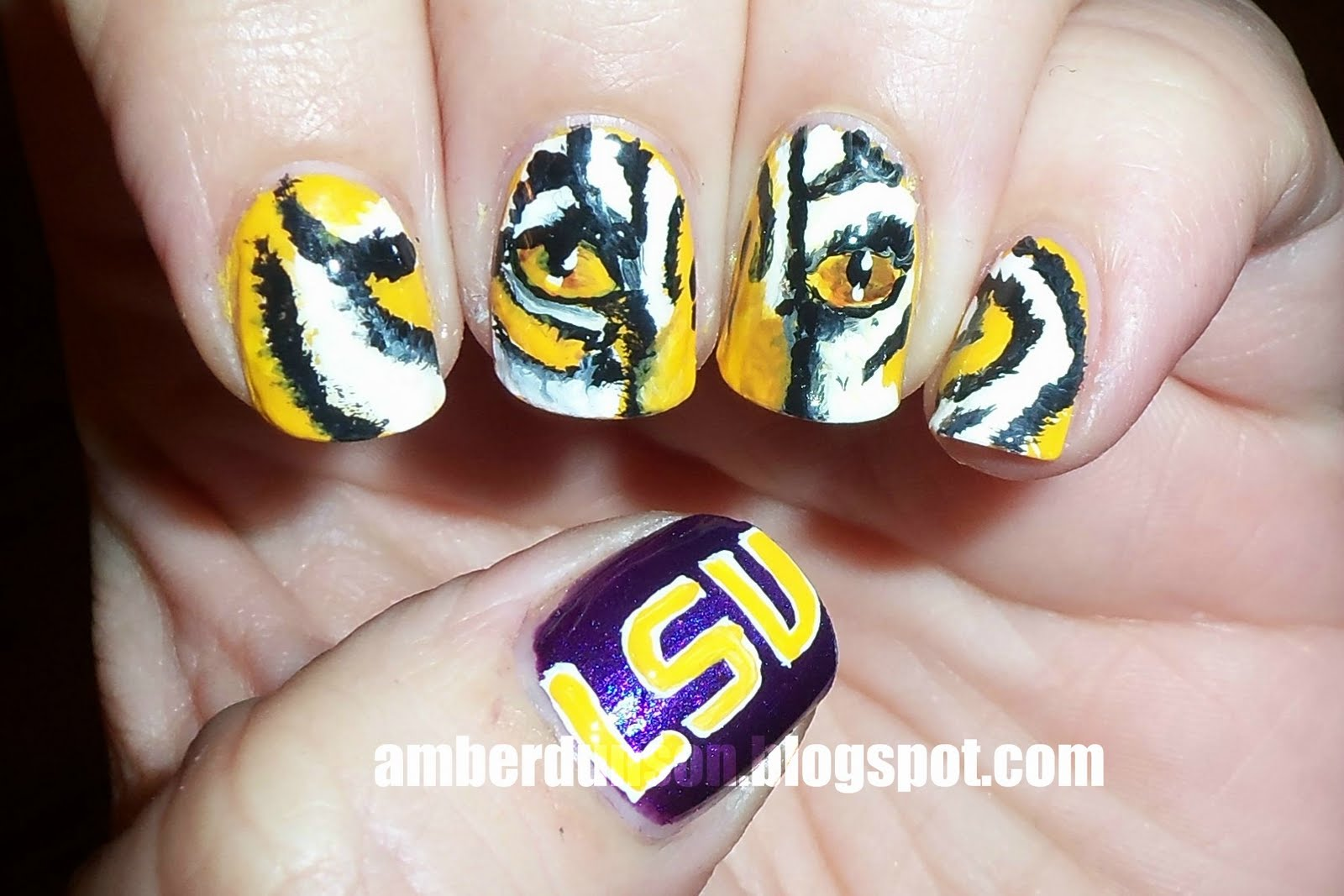 Detroit Tigers Nail Art - Nails Gallery