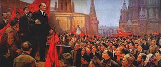 Ocho pinturas sobre Lenin en vísperas del aniversario de su muerte  Discurso+de+Lenin+en+la+plaza+roja.+D.+Nalbandian.1970