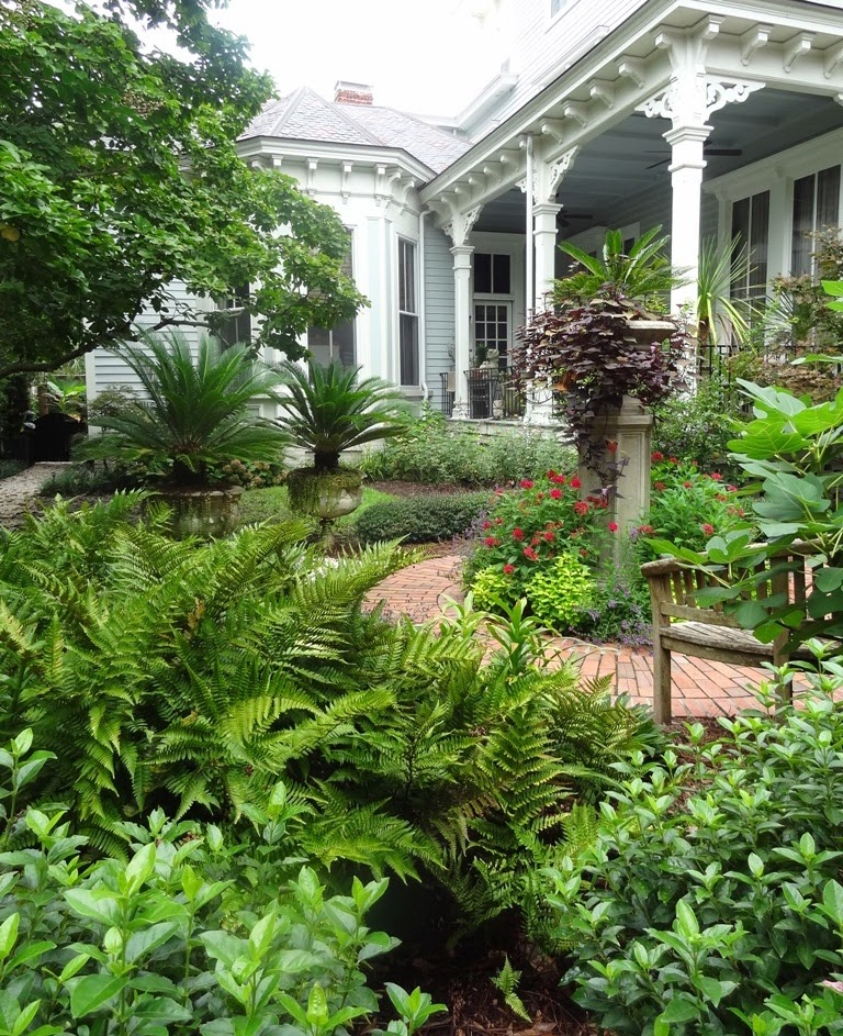 Southern Garden Design garden design with backyard transformations projects and ideas hgtv with plumeria plants from hgtv This Small Yard Has Ferns Planters And Plants Instead Of Grass The Winding Brick Sidewalk Makes A Nice Path This Wilmington Nc Home Is Charming