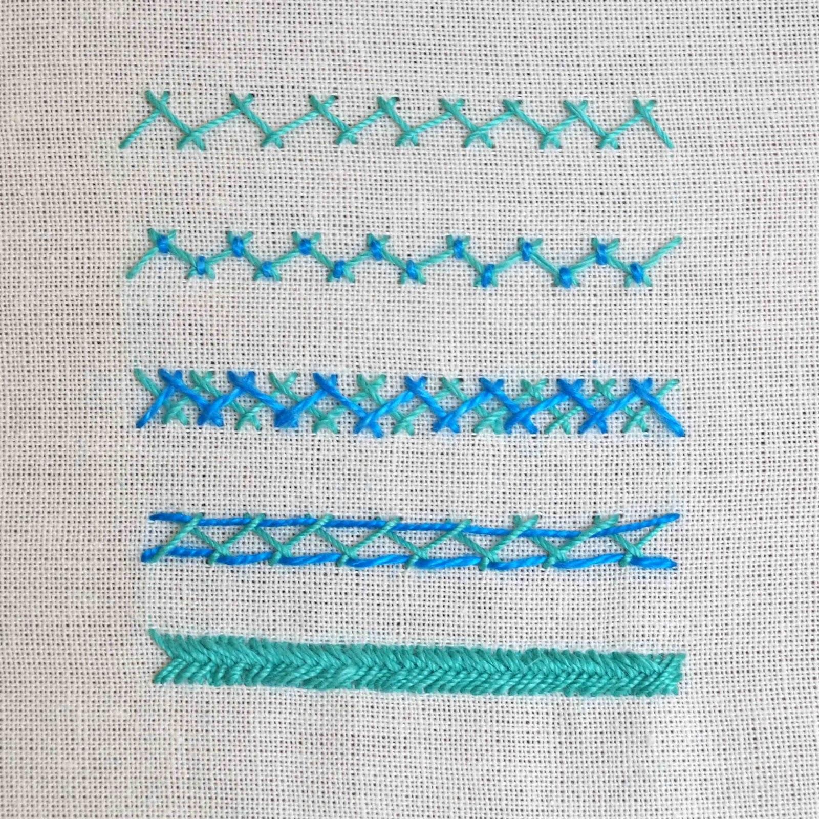 Deshilachado: Puntos de bordado: escapulario o espiga / Embroidery ...