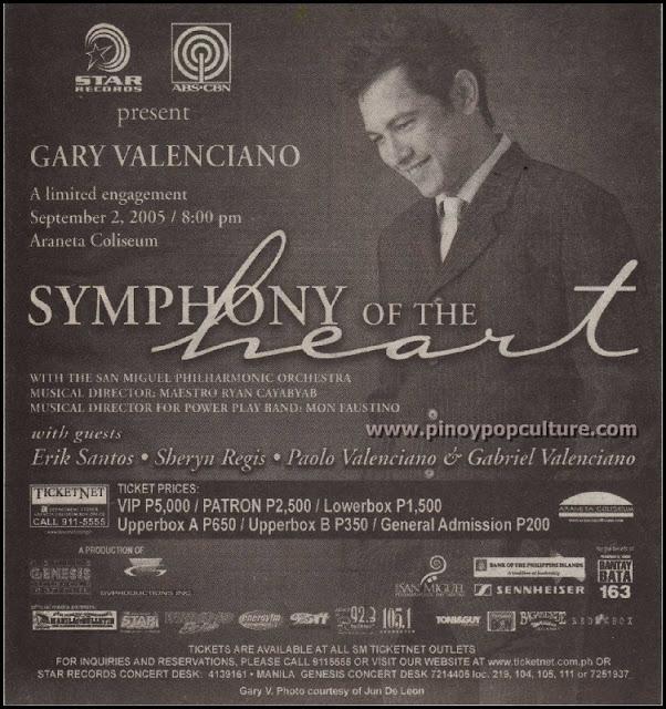 Gary Valenciano, Symphony of the Heart