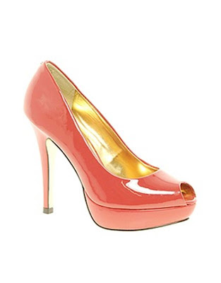 Coral Ted Baker wedding shoes
