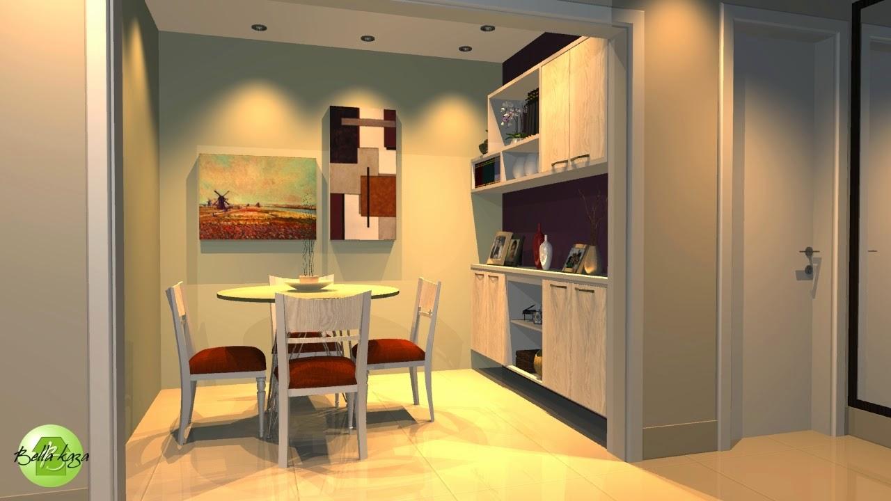 Sala de estar e jantar planejada bella kaza m veis planejados fortaleza bella kaza - Armarios para sala de estar ...