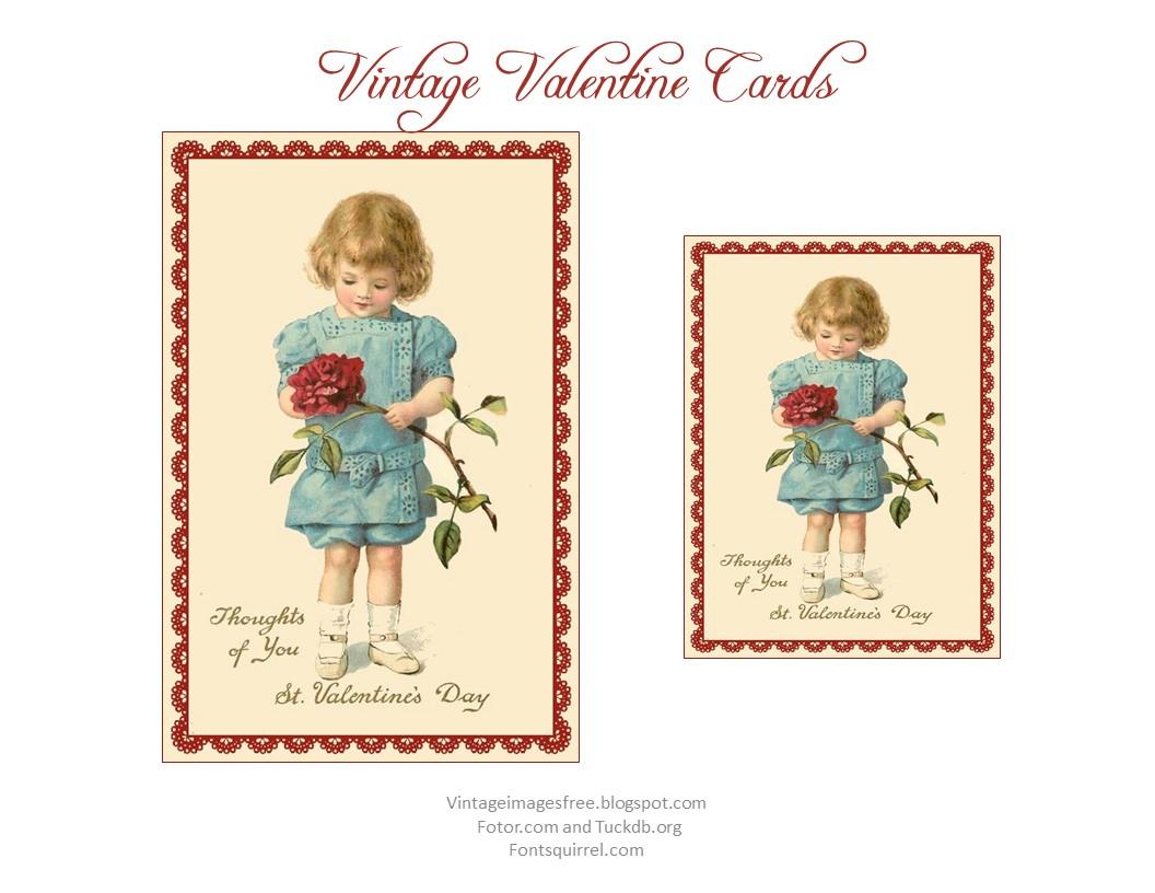 Free Vintage Images Free Printable Vintage Valentine Cards