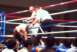 Professional Shooto match in Korakuen Hall, Tokyo, May 2012.