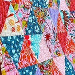 Anna Maria Triangles Baby Girl Quilt