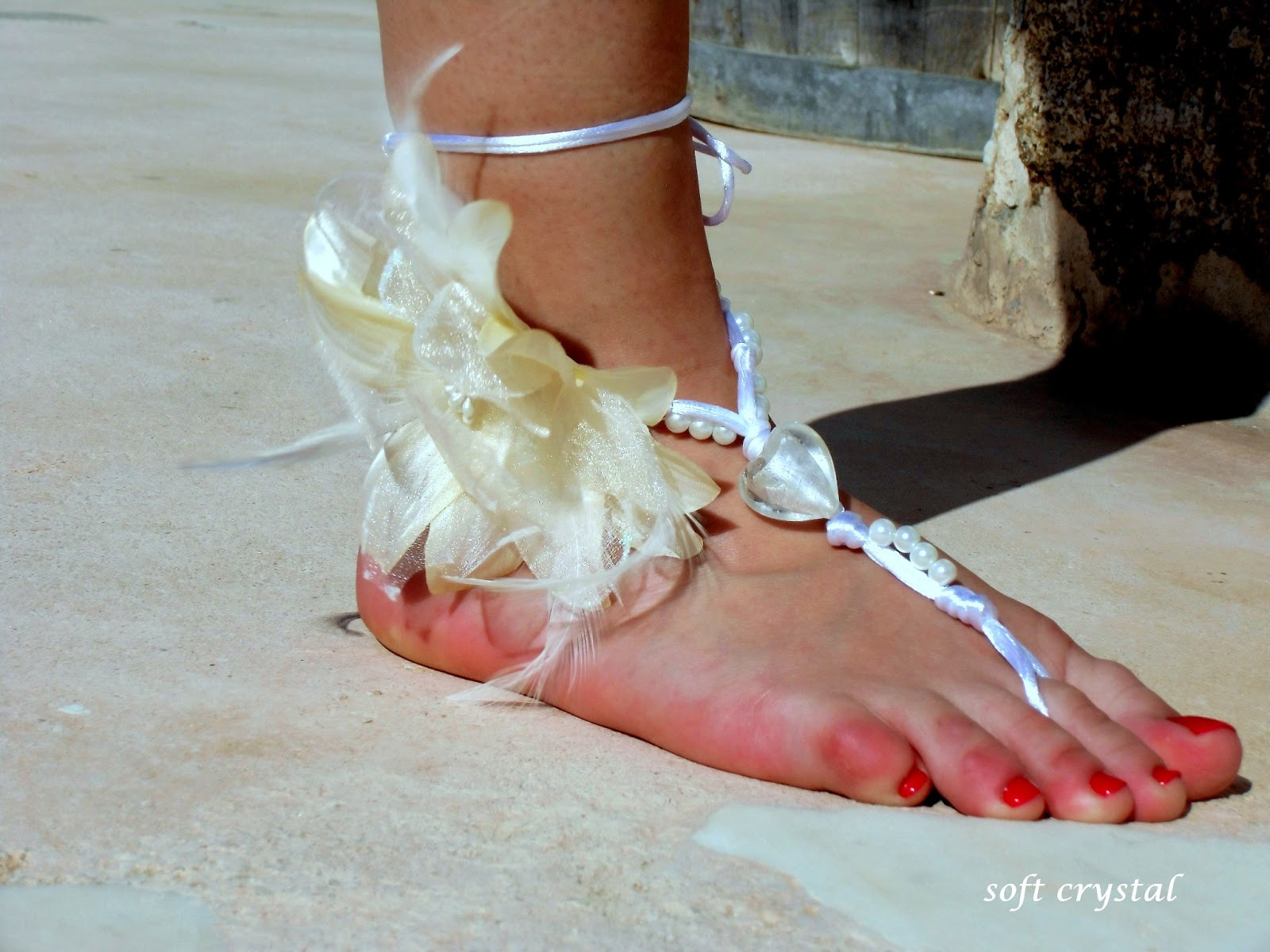 Wedding Barefoot Sandals Nude shoes Foot jewelry Wedding