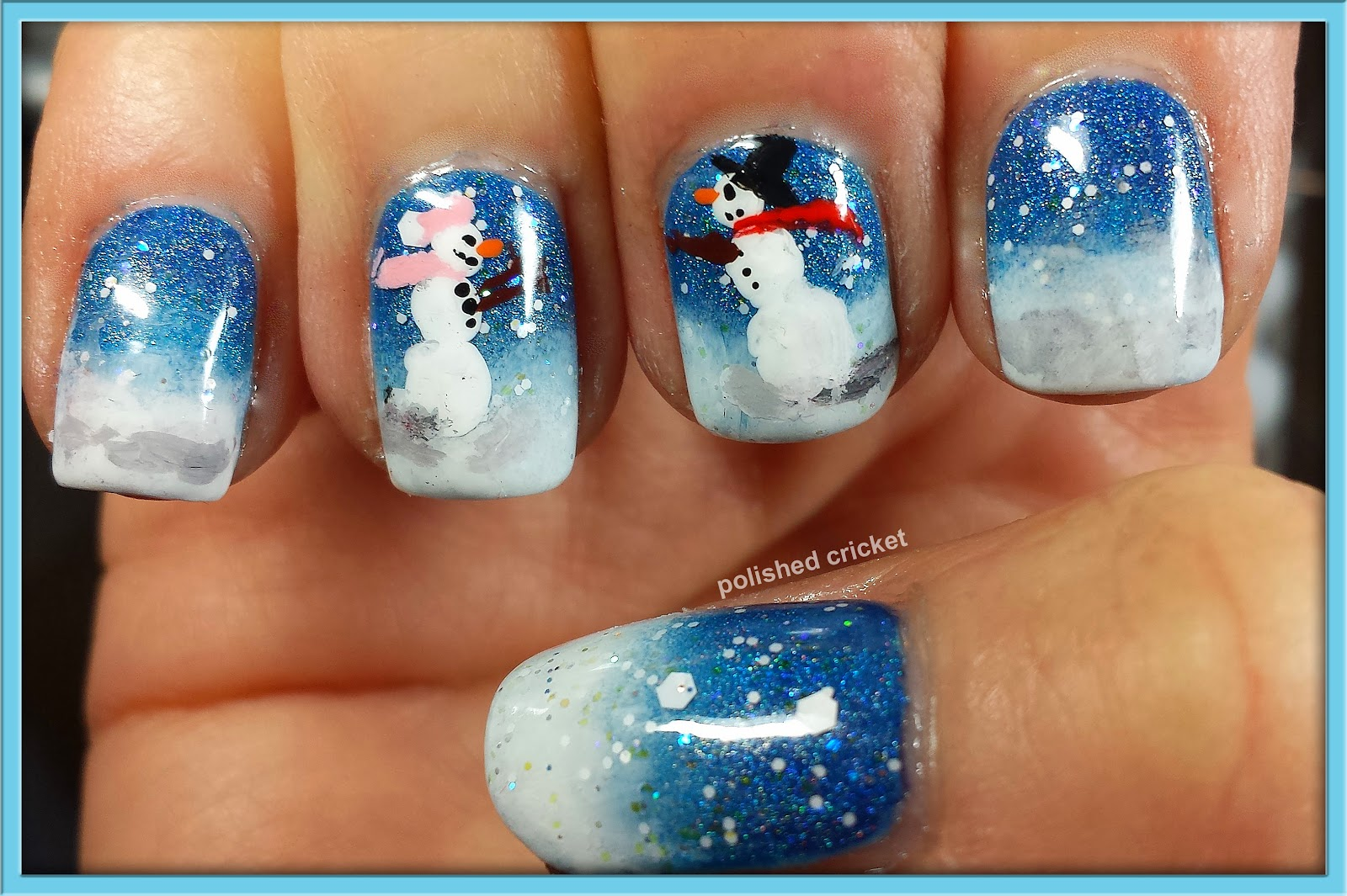 2013 nail polish canada holiday nail art challenge week 1 snow ah makes me want it to be winter forever for these two i hope you enjoyed this winter love story and nail art as much as i enjoyed creating it prinsesfo Gallery