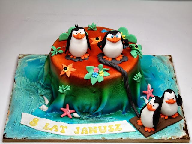 The Penguins of Madagascar Birthday Cake , London