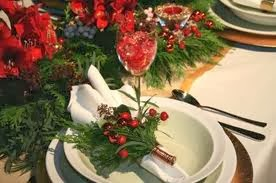 Christmas table decoration Green Color, Part 2
