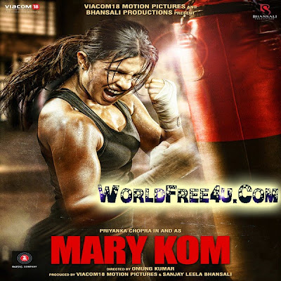 Poster Of Bollywood Movie Mary Kom (2014) 300MB Compressed Small Size Pc Movie Free Download worldfree4u.com