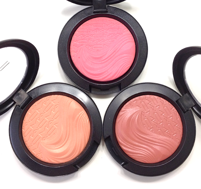 MAc Extra Dimension Blushes Flaming Chic, Blazing Haute, Fiery Impact
