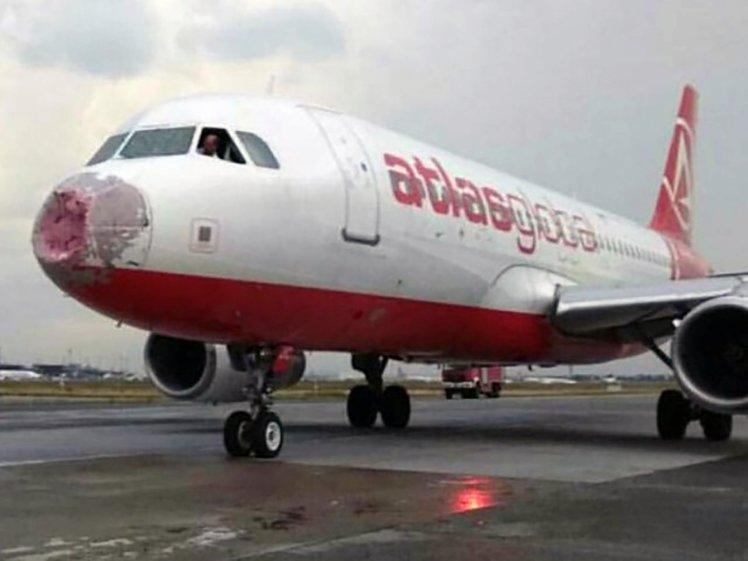 Resultado de imagen para A320 de Atlas Global que fuera dañado por una feroz granizada