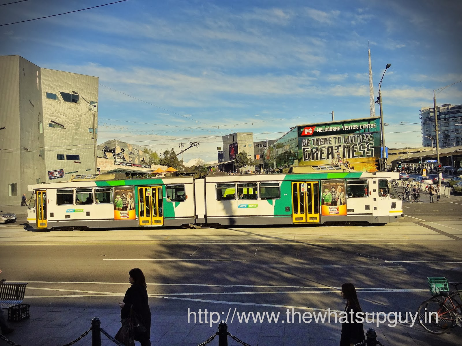 Trams in Federation Square