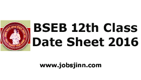 BSEB 12th Date Sheet 2016