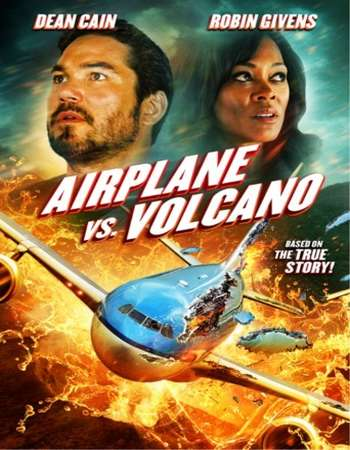 Poster Of Airplane vs. Volcano 2014 Dual Audio 110MB  HEVC Mobile  Free Download Watch Online Worldfree4u