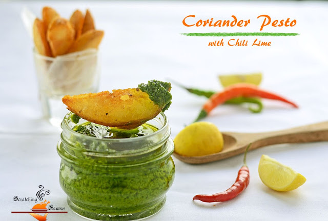Coriander Lime Pesto with Chili