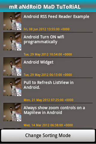 how to read rss feed in android example