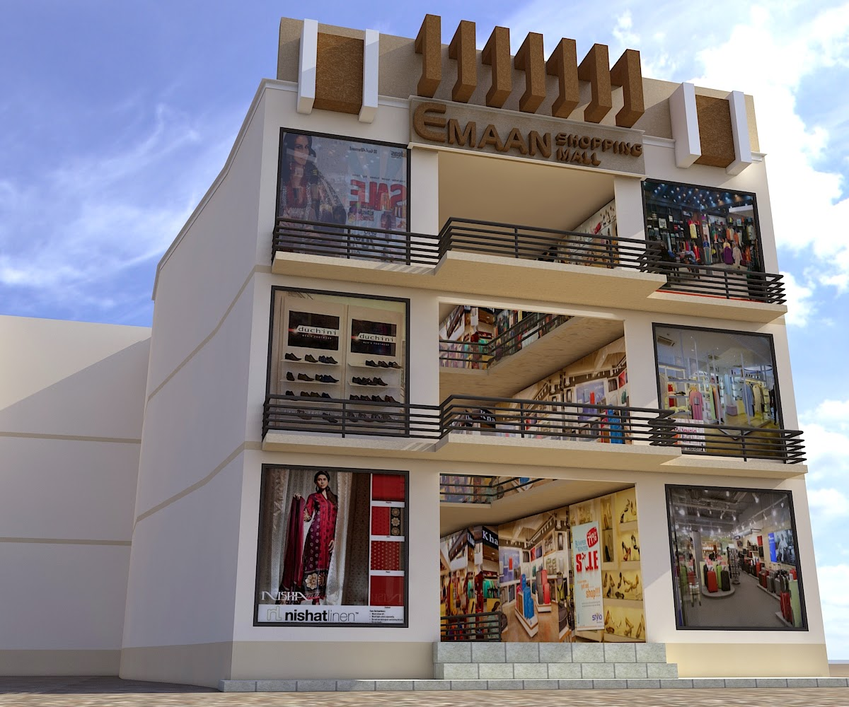 Front Elevation Of Small Plaza : Elevation of shopping mall joy studio design gallery