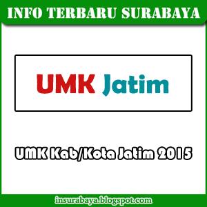 UMK Surabaya 2015 dan UMK Kab/Kota Jawa Timur 2015