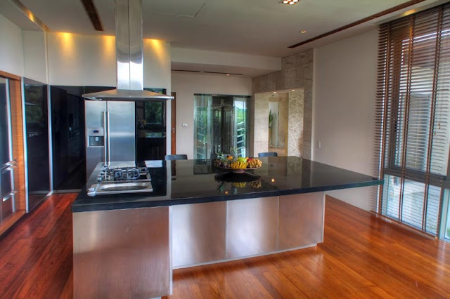 Modern thai kitchen in Villa Liberty, Phuket