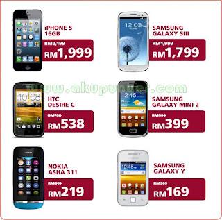Telefon Pintar Rebat RM200 Maxis, Senarai Telefon Pintar Rebat RM200