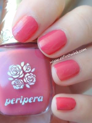 Peripera nail polish PK012 (berry red)
