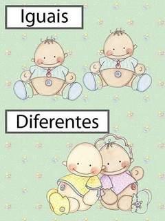 Opostos: Iguais / Diferentes