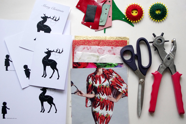 DIY handmade 3d christmas card by xenia kuhn for fashionrolla