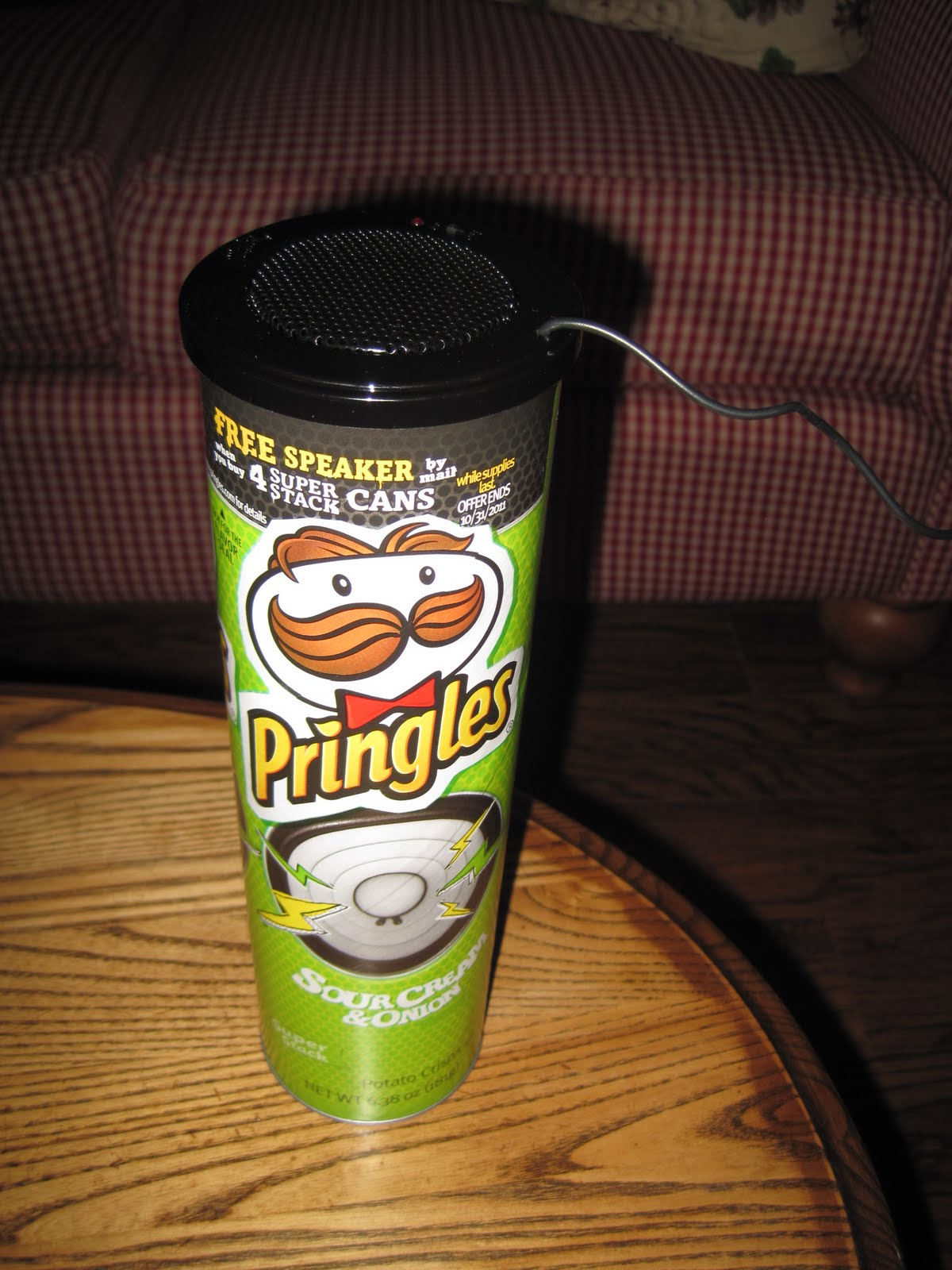 how to make a speaker with a pringles can