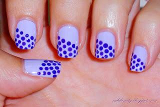 rubibeauty diseños dibujos variados uñas sencillos faciles puntos dots dotting tool DIY lila morado violet purple