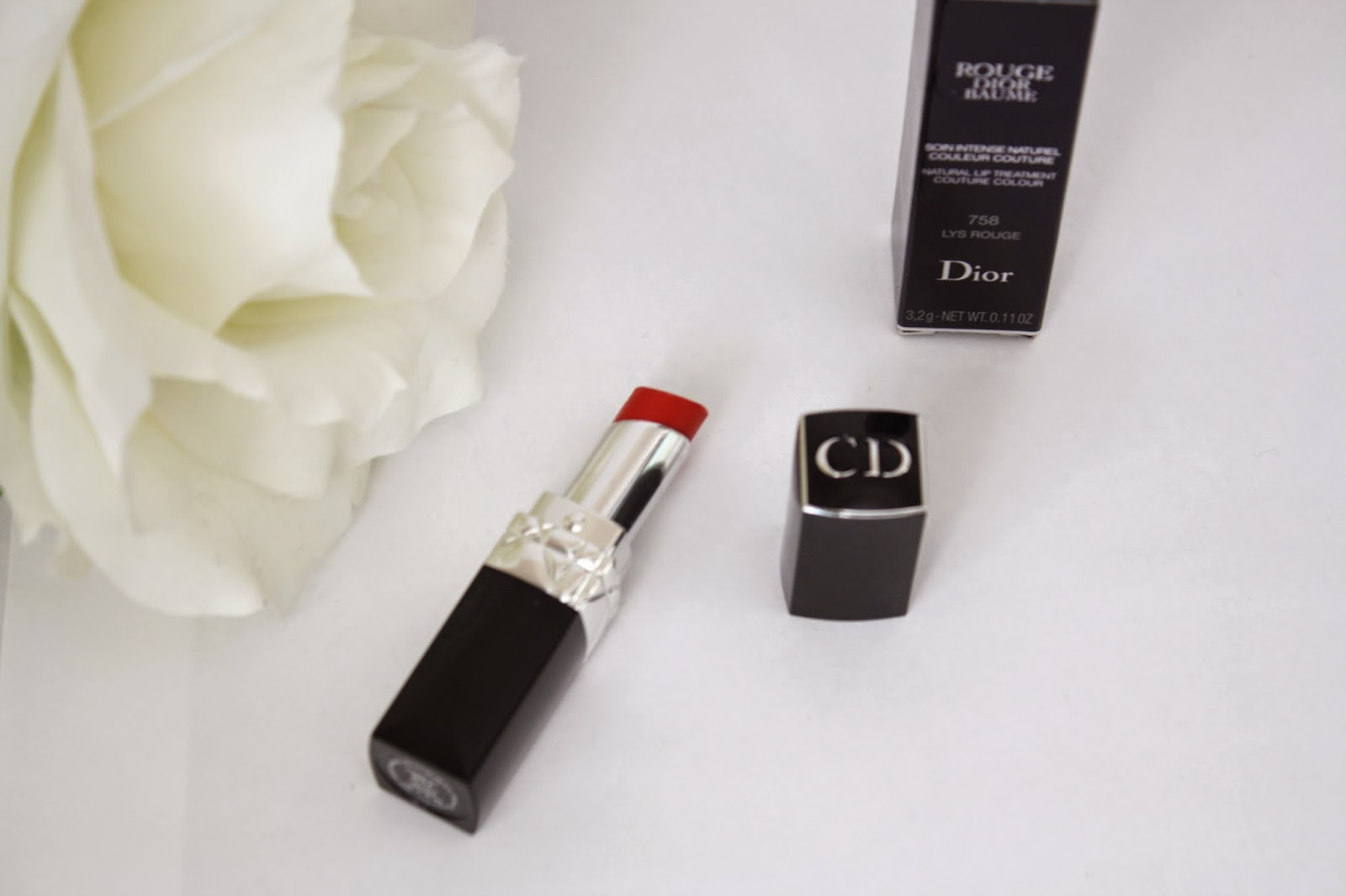 dior, beauty, dior lipstick, dior rouge dior baume, red lipstick, cosmetics, makeup, dior makeup, beauty blogger
