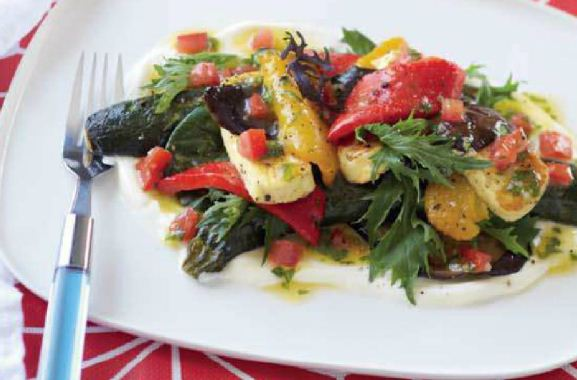 Barbecued Vegetables and Haloumi Salad
