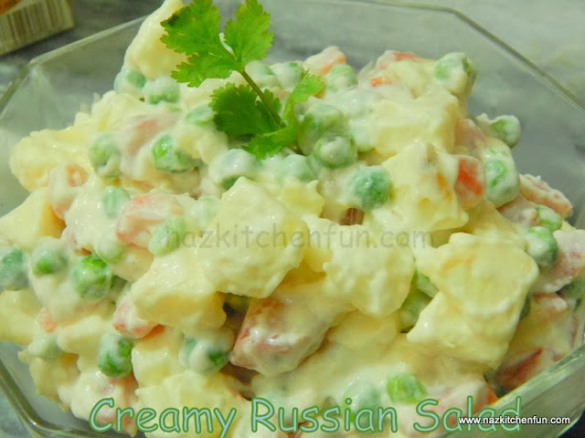 creamy russian salad you'll love