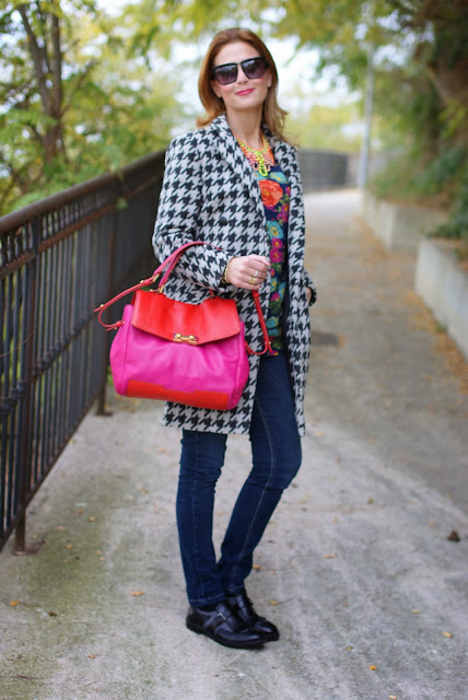 chicwish houndstooth coat, marc by marc jacobs memphis, masculine shoes, Fashion and Cookies, fashion blogger