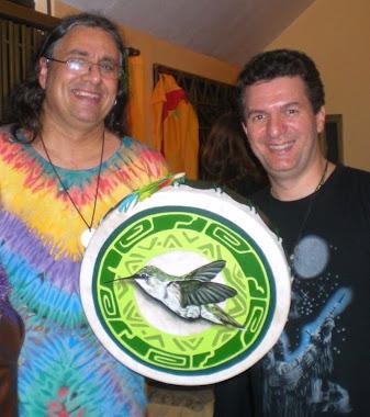 O tambor do Beija-Flor para Daniel Namkay