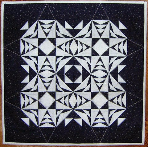 Free Snowflake Quilting Stencil : Quilt Inspiration: Free pattern day: Snowflake and snowman quilts
