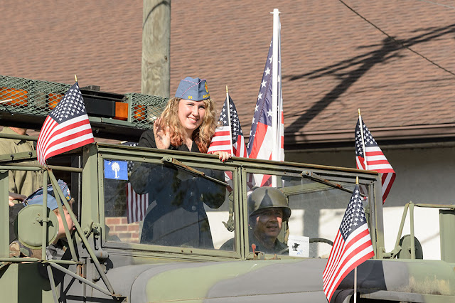 Veteran's Memorial Parade in Brevard, NC