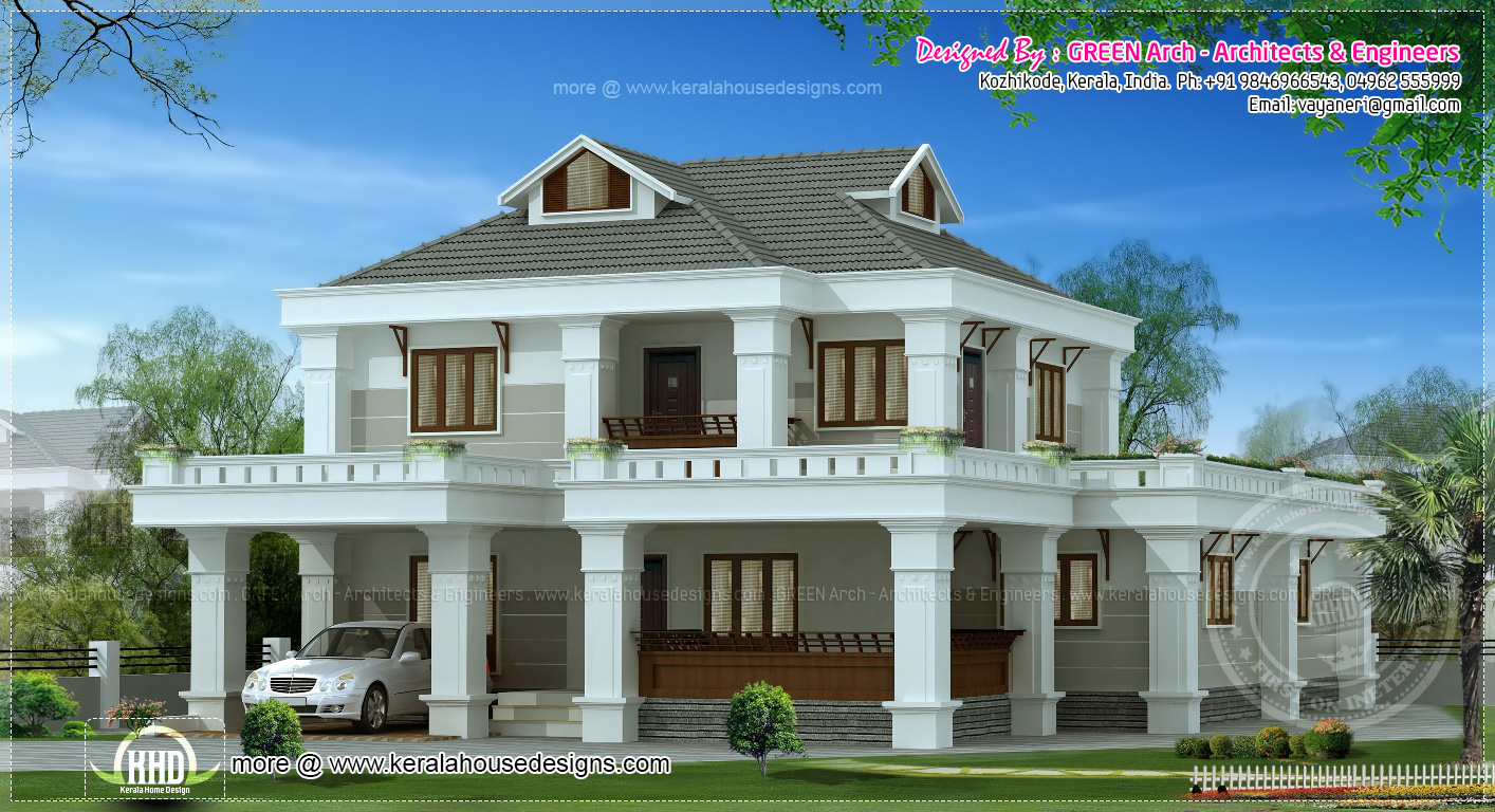 10 different house elevation exterior designs kerala for Different house designs