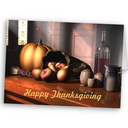 Plentiful Harvest Thanksgiving Card