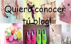 Quiero conocer tú blog!
