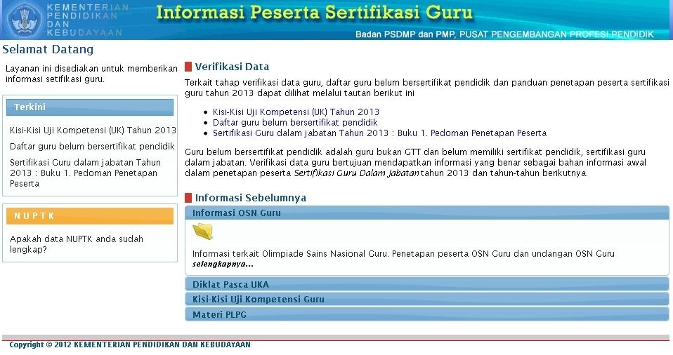 Download Kisi-Kisi Uji Kompetensi UK Sertifikasi Guru 2013