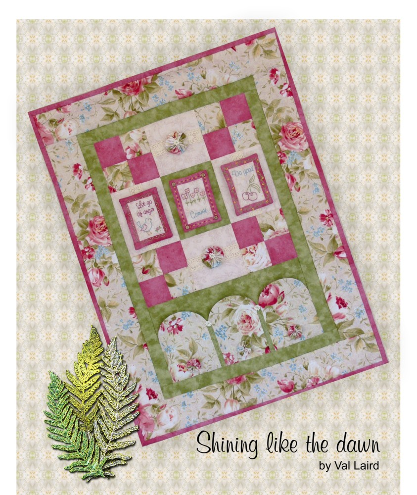 Val Laird Designs - Journey of a Stitcher: Free Block of the Month Wall Quilt - Pattern 7