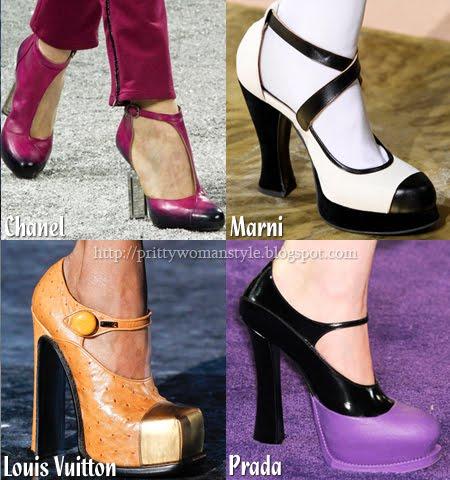 Обувки два и повече цвята
