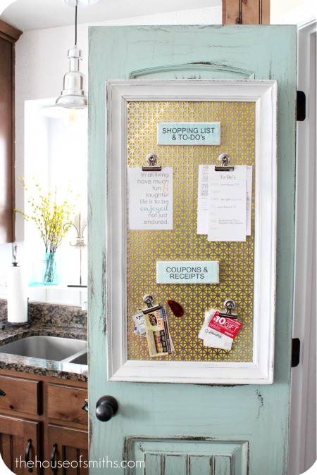 Check Out This Great Magnet Board That Shelly, From House Of Smithu0027s, Made  For Her Kitchen Pantry Door!