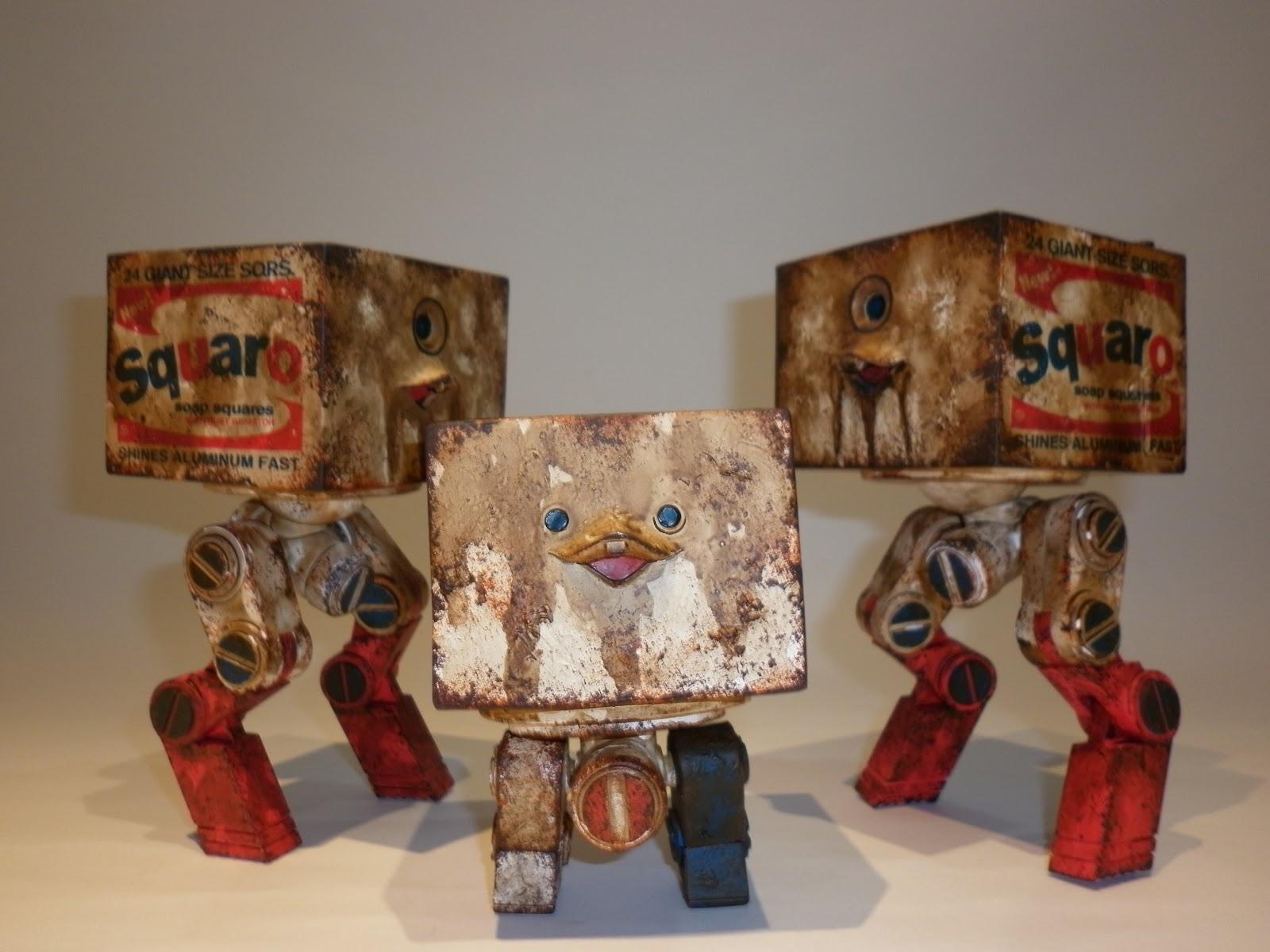 threeA THREEA Ashley Wood WWR Andy The MK2 Square Squaro Brillo Design Toys