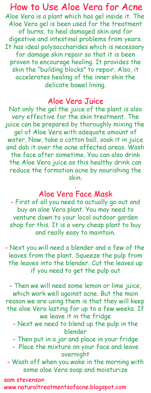 How to Use Aloe Vera for Acne